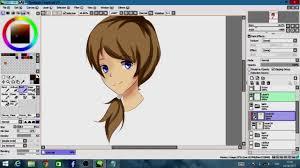coloring hair paint tool sai tutorial sederhana mewarnai rambut