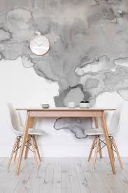 Table A Manger Murale by Soft Gray Watercolor Wall Mural Watercolor Design Textured