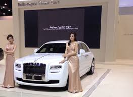 rolls royce art deco collection car debuts at the 34th bangkok