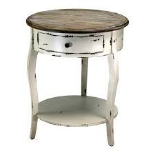 side table round bed side table white distressed bedside with