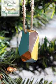 diy geometric clay ornament west elm inspired 30 handmade