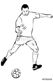 a sketch athlete football player with the ball