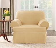 sofa cover t cushion sure fit cotton canvas one piece t cushion slipcovers
