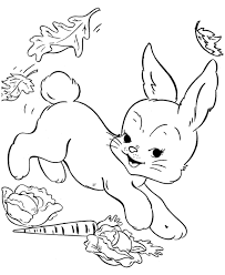 Easter Flower Coloring Pages - cute bunny picking flower coloring page animal coloring pages