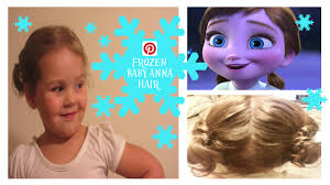 anna from frozen hairstyle pintober frozen baby anna hair toddler hairstyle week1 day5
