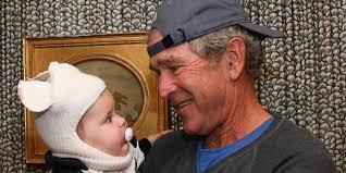 George W Bush Birth George W Bush Trick Or Treats With U0027astronaut U0027 Baby Mila Huffpost