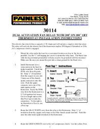painless fan relay wiring diagram painless wiring diagrams