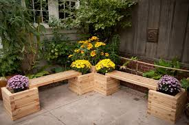 Simple Outdoor Bench Seat Plans by Lawn U0026 Garden Simple Antique Plywood Back Less Garden Bench On