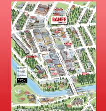 Canmore Canada Map by 3d Mobimaps Map Guides Banff Maps