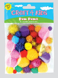 4 kids pom poms sold as a pack of 12