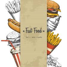 fast food poster vectors template material 04 vector cover