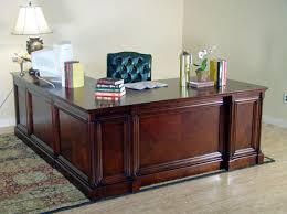 L Shaped Executive Desk Mahogany And More Desks Cherry Executive Desk L Shaped