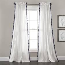 Navy Window Curtains Tassel Window Curtain Set Lush Decor Www Lushdecor