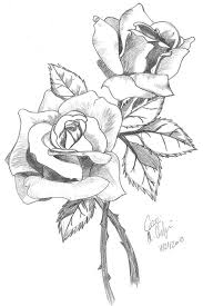 color pencil drawing of a rose and a heart drawing of sketch