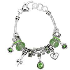 pandora style necklace silver images Peridot august birthstone charm bracelet murano beads pandora jpg