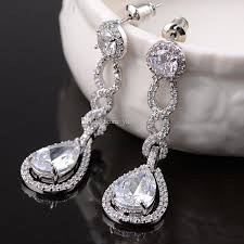 bridal chandelier earrings vintage bridal earrings silver dangle wedding for