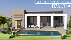 Home Design Using Sketchup Google Sketchup Speed Build Ibiza Villa Youtube