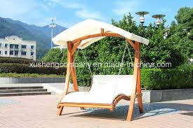 wooden tent china garden outdoor furniture wooden tent type double swing chair