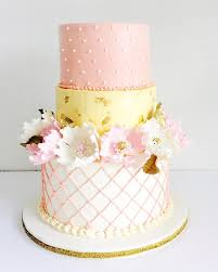 wedding cake ottawa buttercream tiered custom cake with sugar peonies and gold leaves