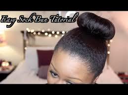 sock hair bun how to sock bun hair tutorial diy sock bun on transitioning hair