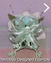 baby sock corsage baby shower corsages mint green blue corsage
