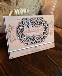 wooden wedding invitations amazing laser cut wood wedding invitation rustic cherry wood