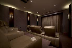 wall sconces for home theater grey theater wall with rectangle led tv and red wall lamp combined