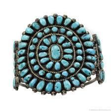 family bracelets zuni turquoise cluster and silver bracelet bracelets