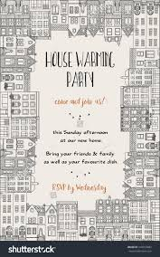 Card Factory Party Invitations House Warming Party Invitation Hand Drawn Stock Vector 444013882