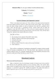 book rental system commerce business plan