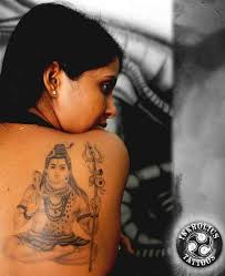 back shoulder lord shiva design tattoos book 65 000
