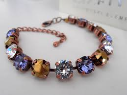 crystal chain link bracelet images Multi colors swarovski crystal bracelet chain link bracelet jpg