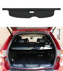 jeep grand trunk cover amazon com upgrade version black opall retractable rear trunk