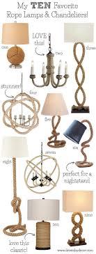 Nautical Rope Chandelier Nautical Rope Lighting My Favorite Ls Pendants Chandeliers
