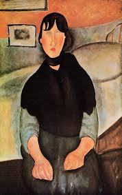 modigliani woman with a fan the mad woman c 1919 chaim soutine wikiart org