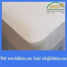Dust Mite Crib Mattress Cover Tpu Backing Fabric For Mattress Protectors Machine Washable