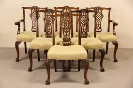 sold set of 6 georgian chippendale vintage mahogany dining