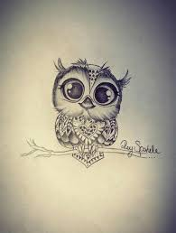 tattoo girl owl cartoon owl drawing tattoo clipartxtras