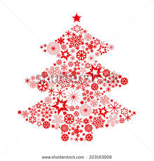 tree snowflakes stock vector 223163008
