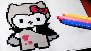halloween pixel art how to draw vampire hello kitty pixelart