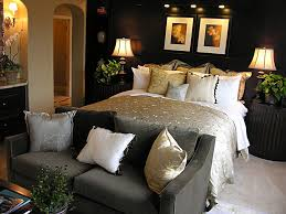 bedroom casual picture of black and beige bedroom decoration with