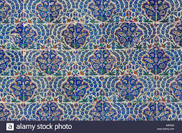 Ottoman Tiles Ottoman Tiles On The Wall Of The Courtyard In The Mausoleum Of