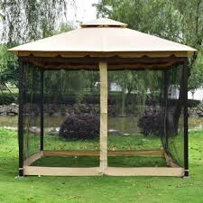 Gazebo With Awning Goplus Op3347 2 Tier 10 U0027x10 U0027 Gazebo Canopy Tent Shelter Awning