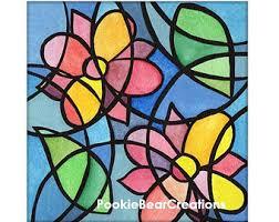 cubism flower painting cubist painting etsy