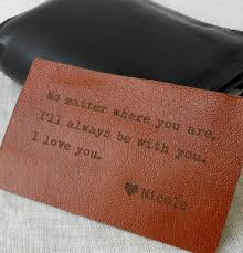 3rd wedding anniversary gifts for him leather wallet insert custom wallet insert card personalized