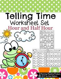 telling time worksheets planning playtime