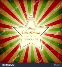 vintage christmas background glowing center star stock vector