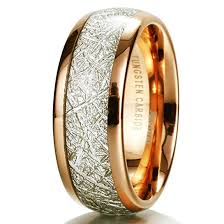 king gold rings images King will meteor 8mm 14k gold plated domed tungsten carbide ring jpg