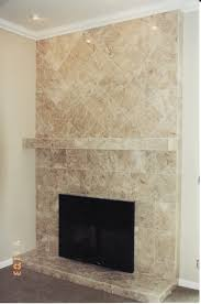 amazing tiling over a brick fireplace inspirational home