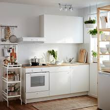 kitchen ikea all in one kitchen in four square metres white